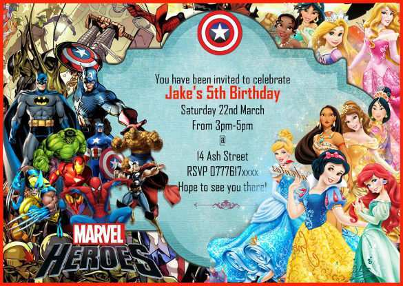 62 Creative Justice League Birthday Invitation Template Download for Justice League Birthday Invitation Template