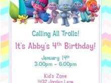 62 Customize Trolls Party Invitation Template Download for Trolls Party Invitation Template