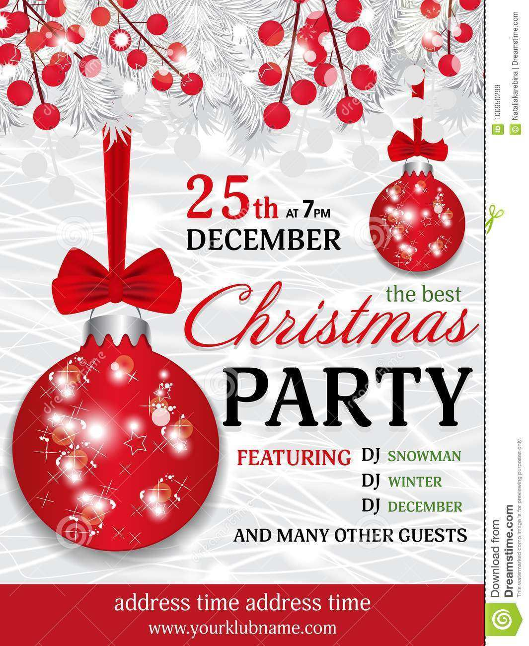 5 Free Christmas Party Invitation Template Publisher in Photoshop
