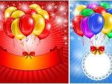 Birthday Invitation Template Balloons