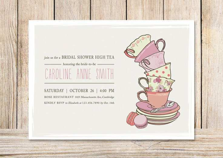 62 Printable Afternoon Tea Party Invitation Template for Ms Word with Afternoon Tea Party Invitation Template