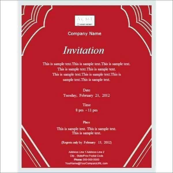 62 Standard Corporate Dinner Invitation Example in Word with Corporate Dinner Invitation Example