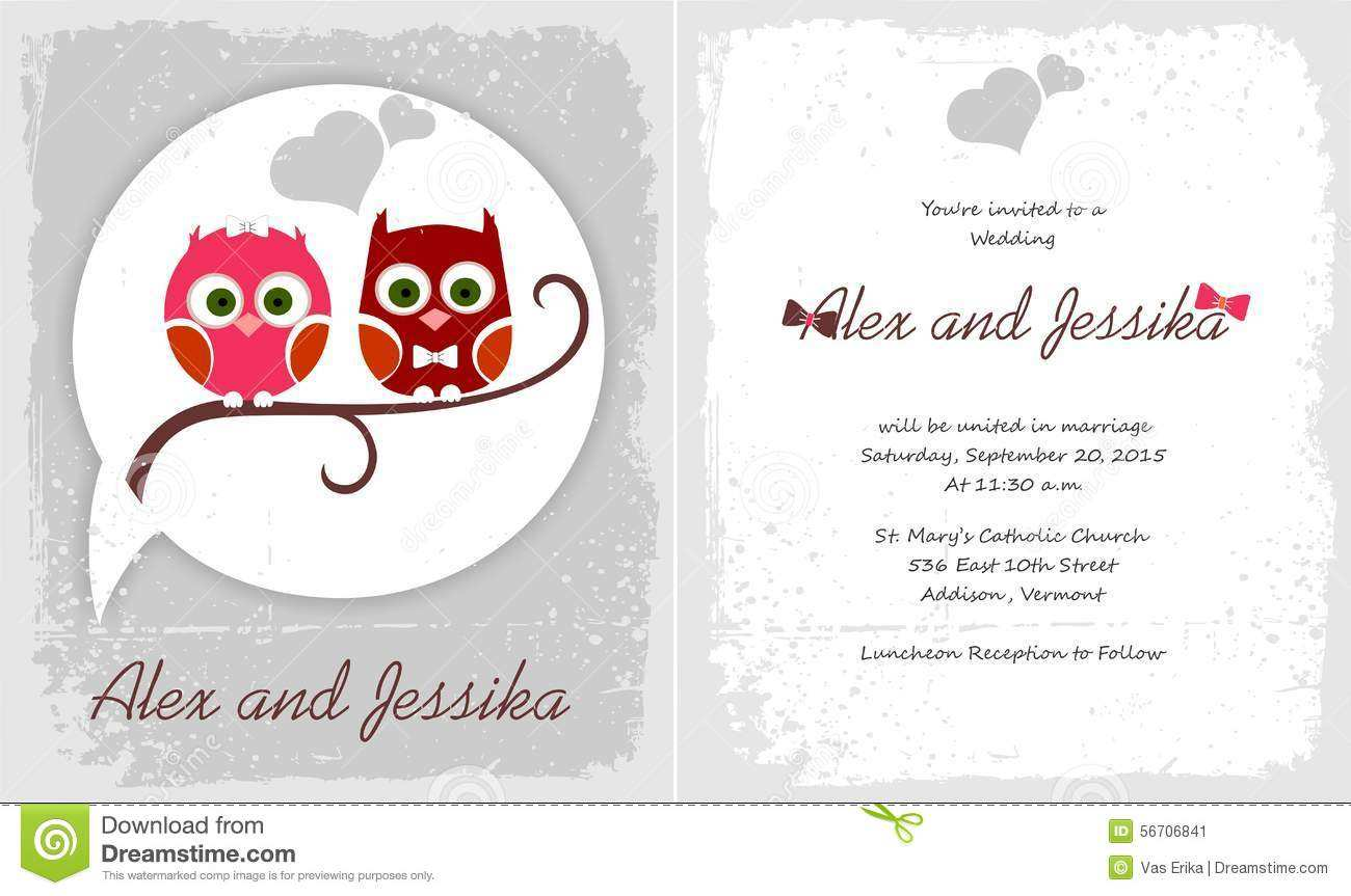 63 Adding Owl Wedding Invitation Template Formating for Owl Wedding Invitation Template