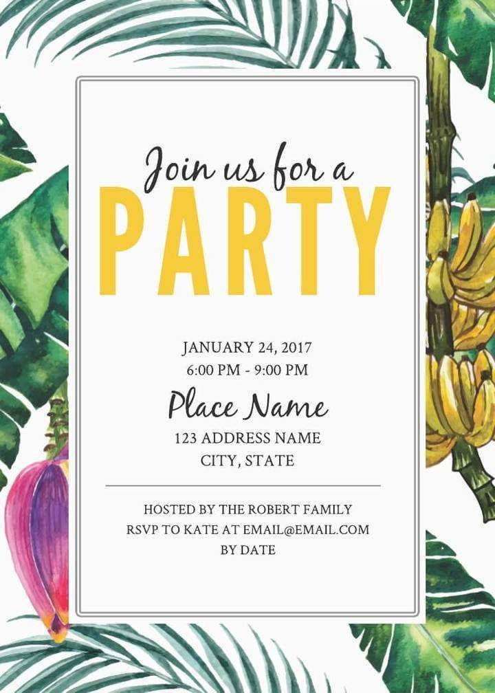 63 Adding Party Invitation Card Template Layouts for Party Invitation Card Template