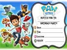 63 Blank Paw Patrol Birthday Invitation Template Free for Ms Word by Paw Patrol Birthday Invitation Template Free