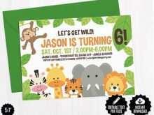 63 Blank Safari Birthday Invitation Template Free With Stunning Design by Safari Birthday Invitation Template Free