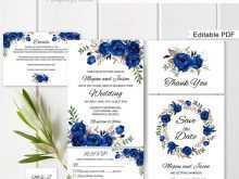 63 Create Royal Blue Wedding Invitation Template for Ms Word with Royal Blue Wedding Invitation Template