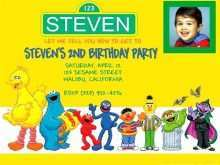 Sesame Street 1St Birthday Invitation Template