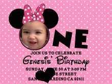 63 Customize Birthday Invitation Template Minnie Mouse in Word for Birthday Invitation Template Minnie Mouse