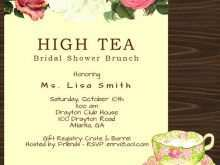 63 Format Afternoon Tea Invitation Template Blank For Free by Afternoon Tea Invitation Template Blank