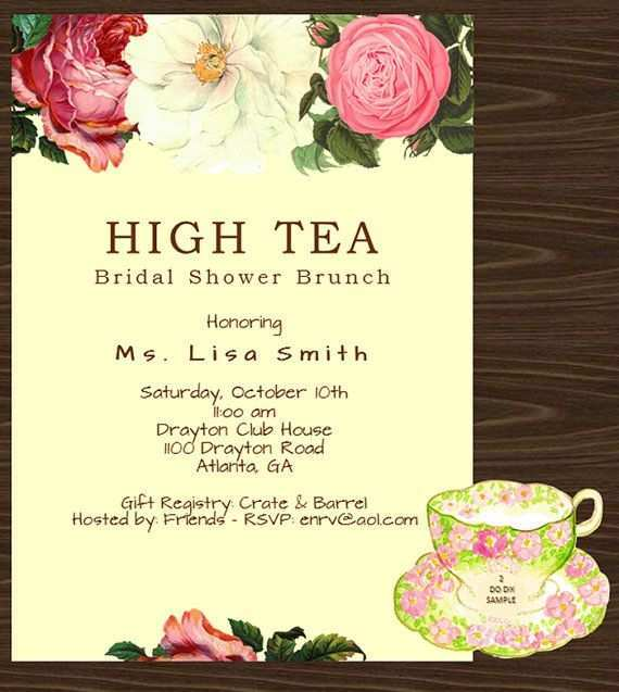 63 Format Afternoon Tea Invitation Template Blank For Free by Afternoon Tea Invitation Template Blank