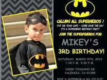 63 Free Justice League Birthday Invitation Template Maker for Justice League Birthday Invitation Template