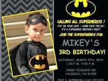 63 Free Justice League Birthday Invitation Template Maker for Justice League Birthday Invitation Template