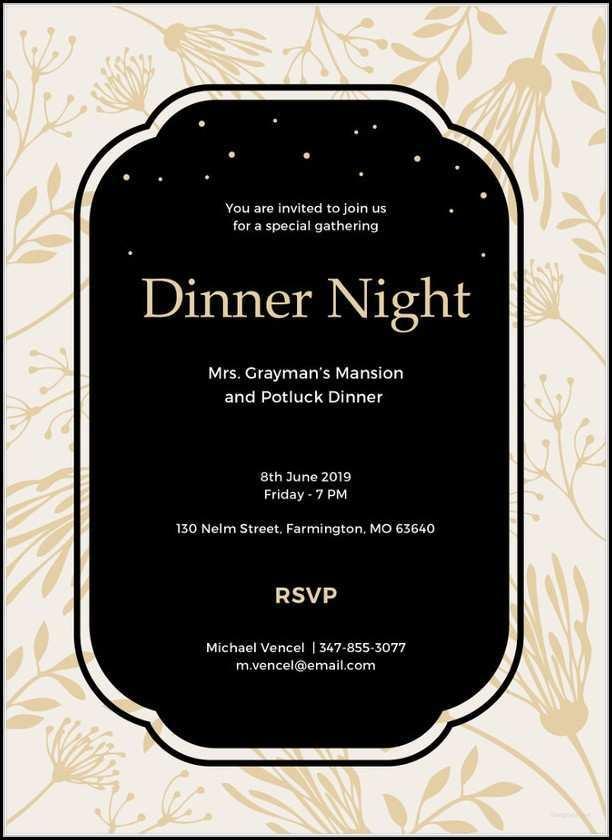 63 Free Printable Dinner Invitation Template Ppt For Free for Dinner Invitation Template Ppt