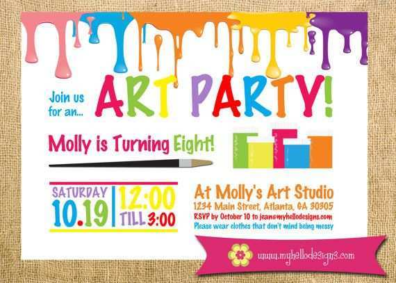 63 Visiting Birthday Party Invitation Template Art Free For Free with Birthday Party Invitation Template Art Free