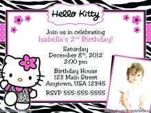 64 Creative Hello Kitty Blank Invitation Template in Photoshop by Hello Kitty Blank Invitation Template