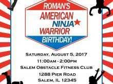 64 Creative Ninja Warrior Birthday Invitation Template Free for Ms Word by Ninja Warrior Birthday Invitation Template Free
