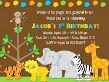 64 Creative Safari Birthday Invitation Template Free Layouts with Safari Birthday Invitation Template Free