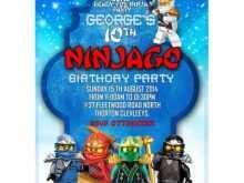 64 Customize Ninjago Party Invitation Template Now by Ninjago Party Invitation Template