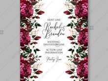 64 Format Wedding Invitation Template Burgundy Formating with Wedding Invitation Template Burgundy
