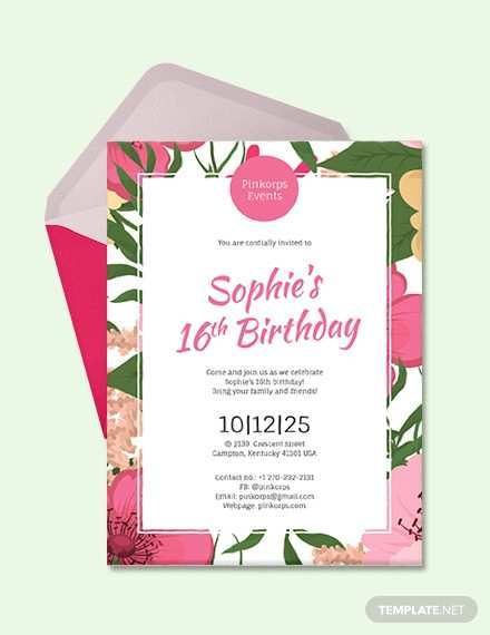64 Online Birthday Party Invitation Template Now with Birthday Party Invitation Template