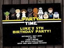 64 Report Star Wars Birthday Invitation Template For Free by Star Wars Birthday Invitation Template