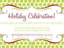 64 Standard Blank Holiday Invitation Template in Photoshop by Blank Holiday Invitation Template