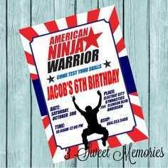 64 The Best American Ninja Warrior Birthday Invitation Template in Word by American Ninja Warrior Birthday Invitation Template