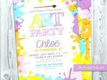 64 The Best Art Party Invitation Template Free Photo with Art Party Invitation Template Free