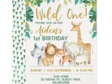 64 The Best Birthday Invitation Templates Wild One in Word with Birthday Invitation Templates Wild One