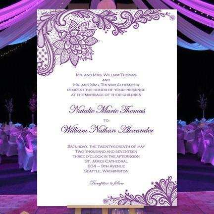 64 The Best Wedding Invitation Templates Violet in Photoshop by Wedding Invitation Templates Violet