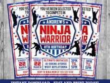 64 Visiting American Ninja Warrior Birthday Invitation Template Formating by American Ninja Warrior Birthday Invitation Template