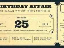 64 Visiting Birthday Invitation Ticket Template Free With Stunning Design for Birthday Invitation Ticket Template Free