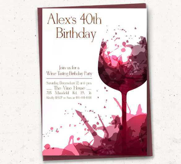 65 Blank Adults Birthday Invitation Template in Photoshop with Adults Birthday Invitation Template
