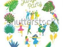 65 Blank Jungle Party Invitation Template in Photoshop with Jungle Party Invitation Template