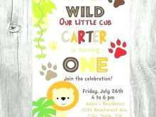 Birthday Invitation Template Jungle Theme