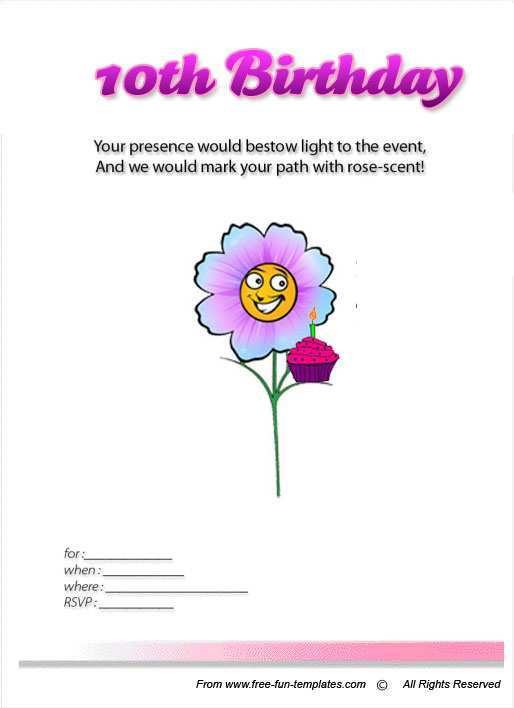 65 Create Birthday Invitation Templates For 10 Year Old Formating for Birthday Invitation Templates For 10 Year Old