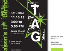 65 Creating Birthday Invitation Template Laser Tag Now by Birthday Invitation Template Laser Tag