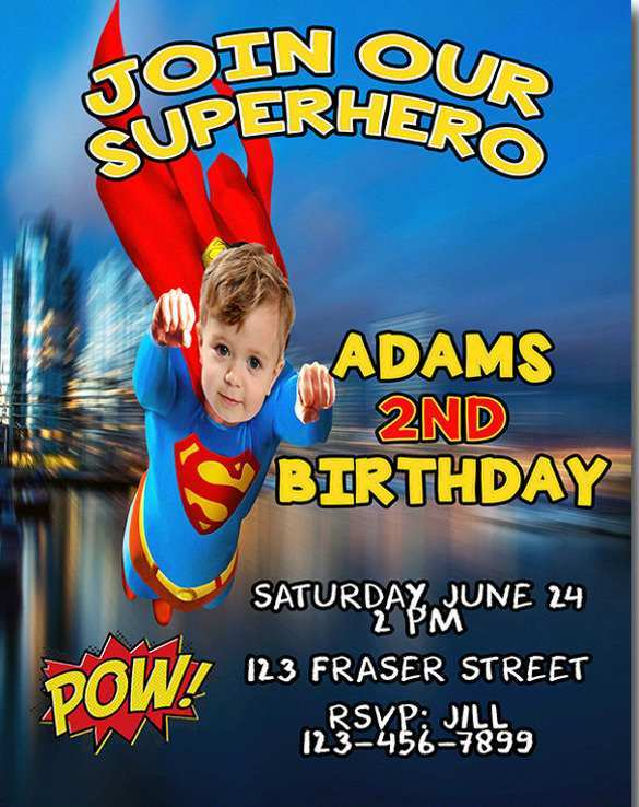 65 Creating Justice League Birthday Invitation Template in Word by Justice League Birthday Invitation Template
