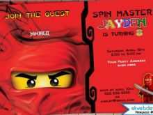 65 Creative Ninjago Party Invitation Template Now by Ninjago Party Invitation Template