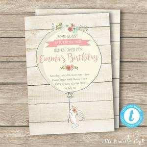 65 Customize Bunny Birthday Invitation Template Free Now for Bunny Birthday Invitation Template Free