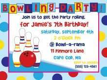 Party Invite Template Bowling