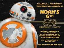 65 Customize Our Free Star Wars Birthday Invitation Template Maker by Star Wars Birthday Invitation Template