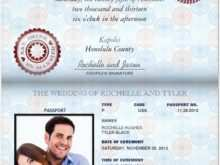 65 Format Free Passport Wedding Invitation Template With Stunning Design for Free Passport Wedding Invitation Template