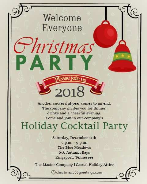 65 Online Office Christmas Party Invitation Template Psd File With