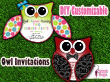 65 Standard Owl Birthday Invitation Template in Photoshop by Owl Birthday Invitation Template