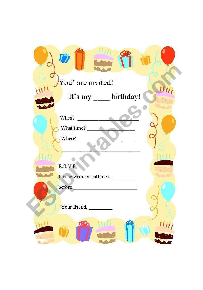 66 Adding Example Of Invitation Card For Birthday Layouts with Example Of Invitation Card For Birthday