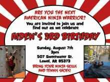 66 Blank American Ninja Warrior Birthday Invitation Template Photo with American Ninja Warrior Birthday Invitation Template