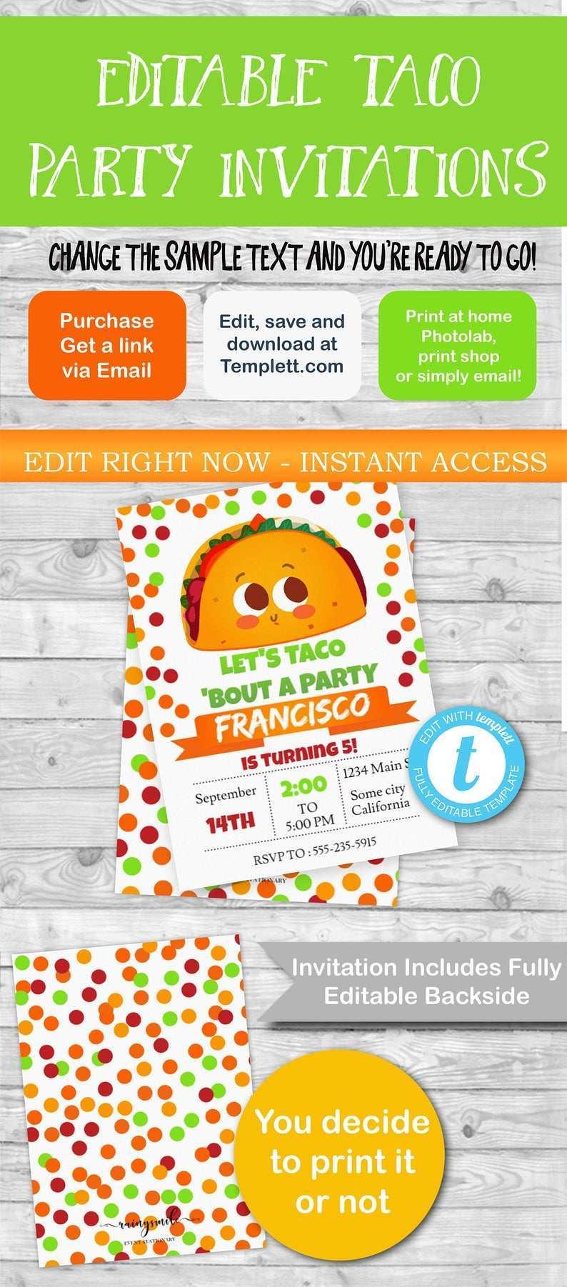 66 Blank Taco Party Invitation Template Free PSD File for Taco Party Invitation Template Free