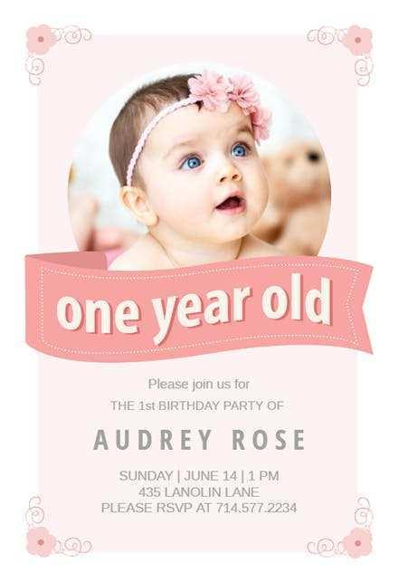 66 Creative Birthday Invitation Template For Baby Girl Layouts by Birthday Invitation Template For Baby Girl